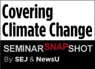 Covering Climate Change seminar snapshot graphic
